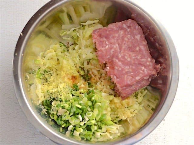 Pork Filling Ingredients in a bowl