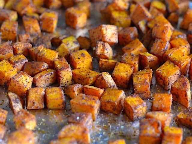 Chili Roasted Sweet Potatoes - Budget Bytes