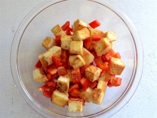 Fried Tofu and Peppers