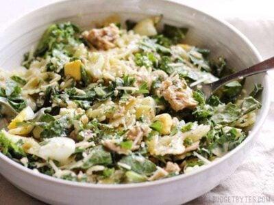 Kale & Salmon Caesar Salad