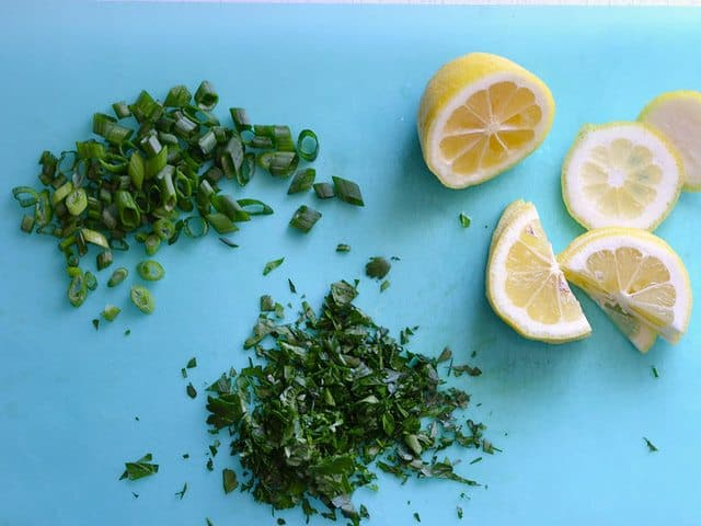 Parsley Green Onions and Lemon