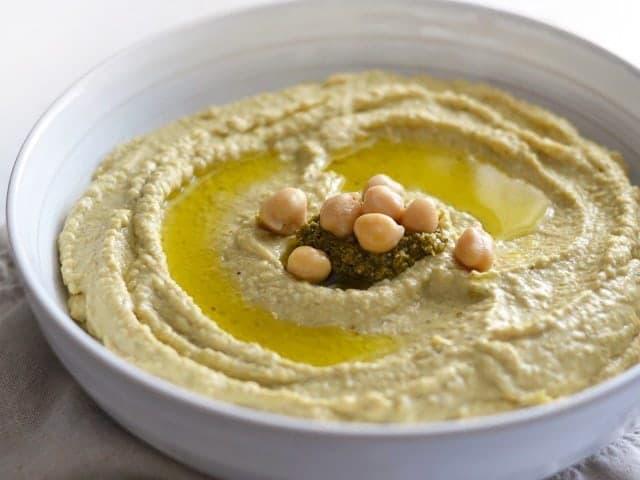 Pesto Hummus - BudgetBytes.com