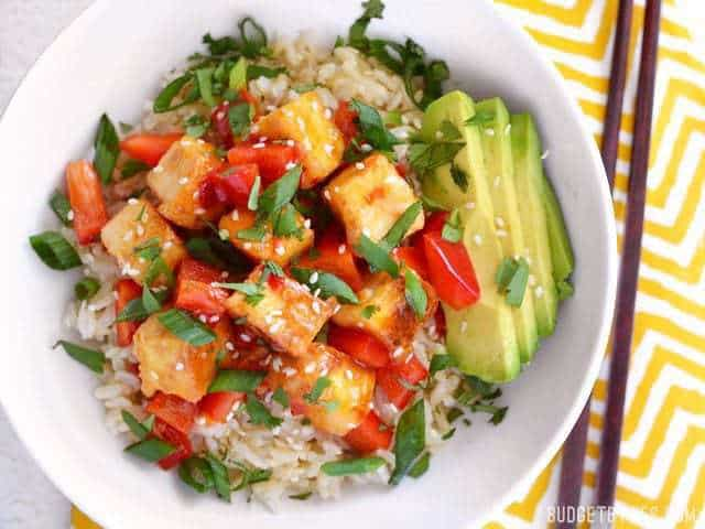 Sweet Chili Tofu Bowls - BudgetBytes.com