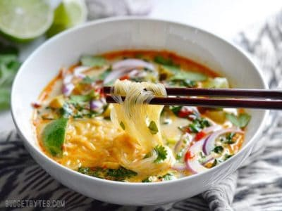 Thai Curry Vegetable Soup is packed with vegetables, spicy Thai flavor ...