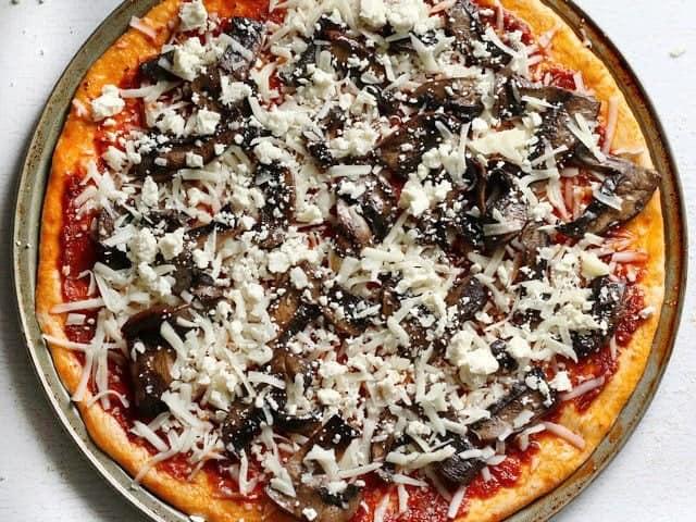 Add Mozzarella and Mushrooms
