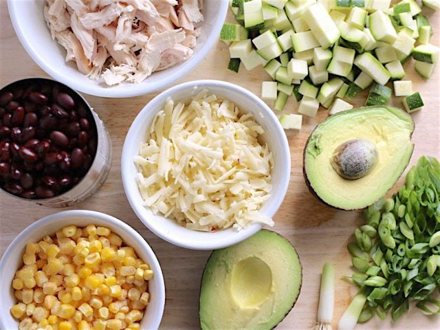 BBQ Chicken Burrito Bowl Ingredients