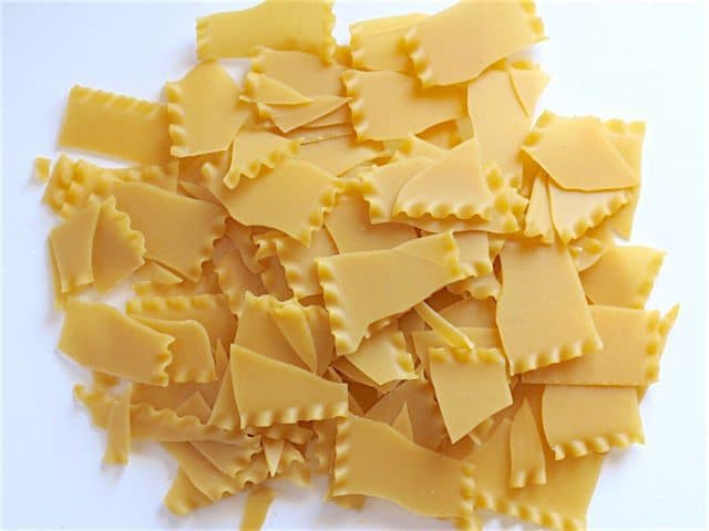 Broken Lasagna Noodles