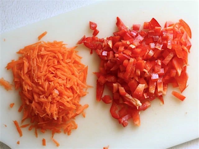 Carrot and Red Bell Pepper