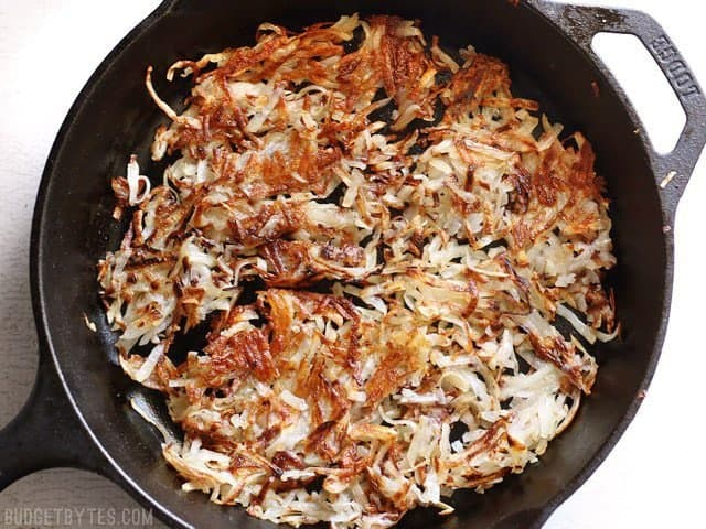 How to Make Crispy Hash Browns at home - BudgetBytes.com