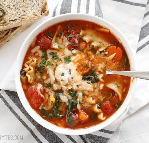 Garden Vegetable Lasagna Soup Recipe Budget Bytes