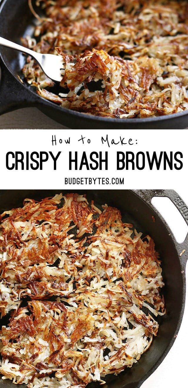 How to Make Crispy Hash Browns at home - BudgetBytes.com
