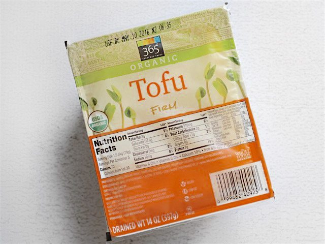 Package of firm tofu