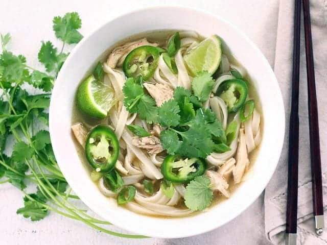 Quickie Faux Phở Add Garnishes