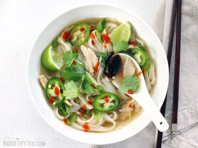 Quickie Faux Phở with Sauces