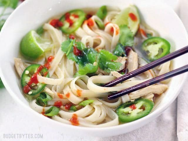 Quickie Faux Phở - The next best to the real thing when you're short on time. BudgetBytes.com