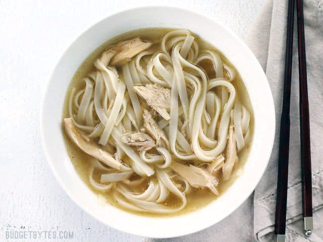 Quickie Chicken Phở without toppings