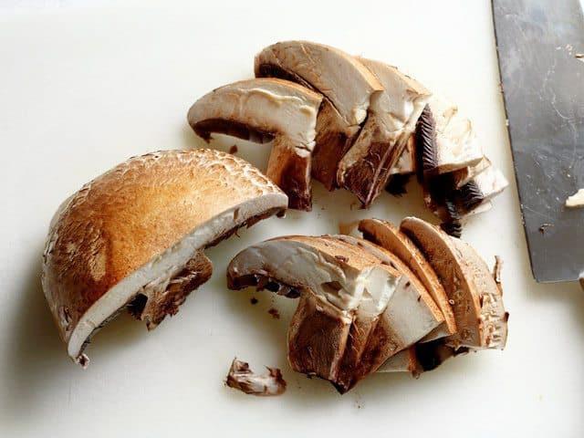 Sliced Portobello Mushroom