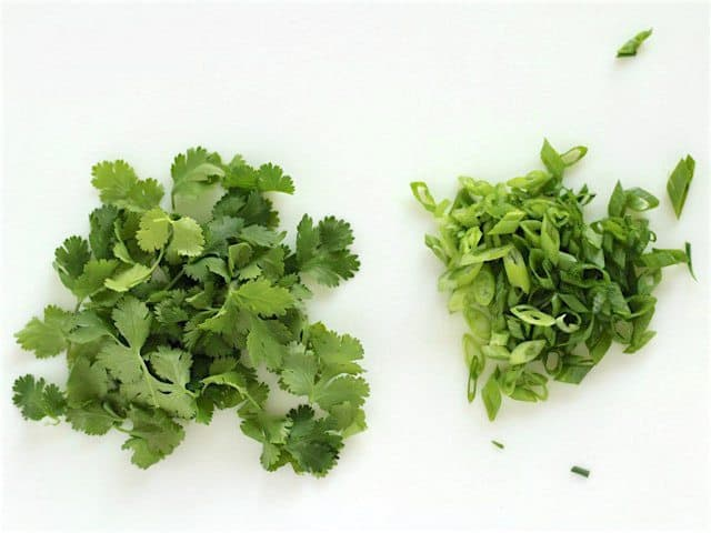 Cilantro and Green Onions