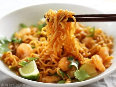 Lime Shrimp Dragon Noodles