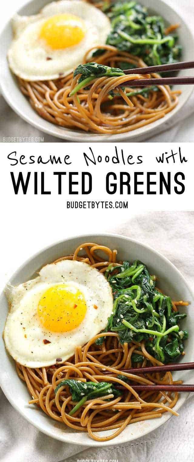 Wilted Greens With Balsamic Fried Eggs Recipes — Dishmaps
