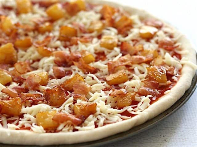 Top Bacon and Caramelized Pineapple Pizza
