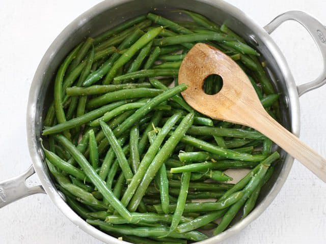 Toss beans to Coat in butter and lemon
