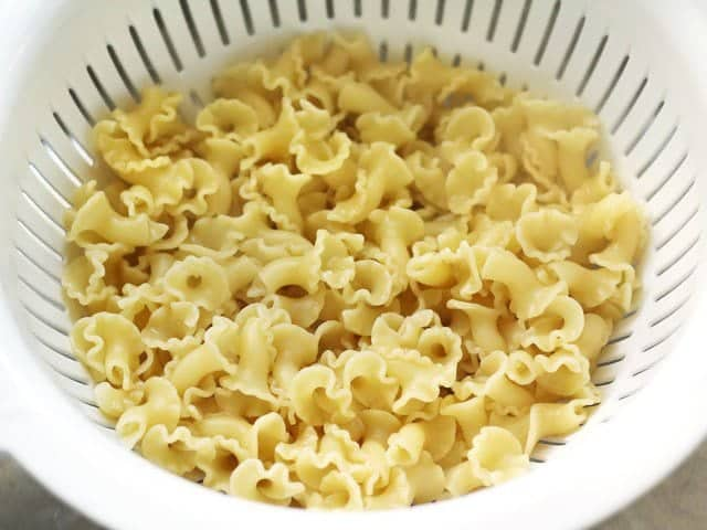Cooked Pasta in Colander