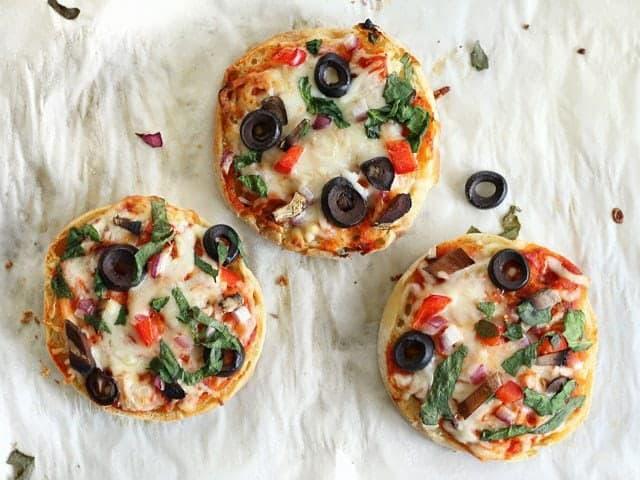Freezer Ready Mini Pizzas baked