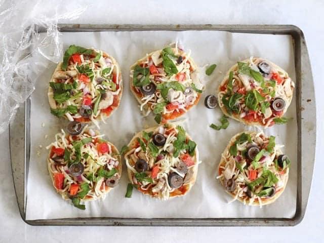 Freezer Ready Mini Pizzas frozen