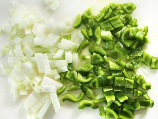 Diced Onion and Bell Pepper