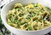 Parsley Scallion Hummus Pasta
