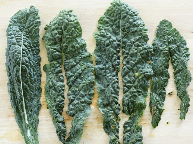 Lacinato Kale with stems removed