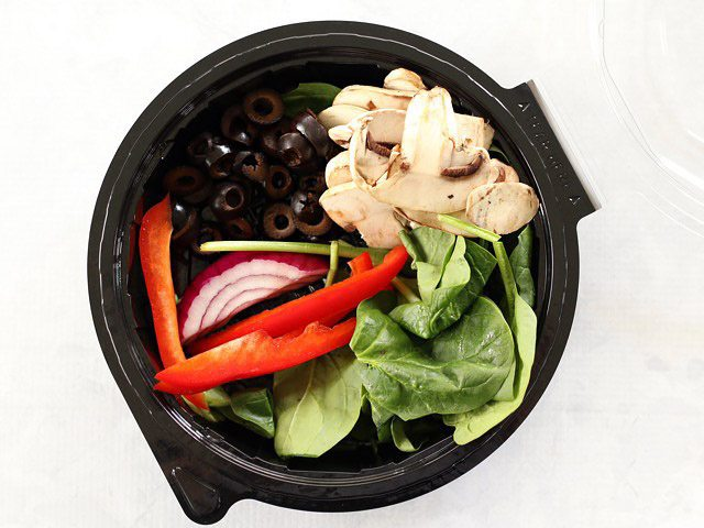 Salad Bar Toppings in a to go container