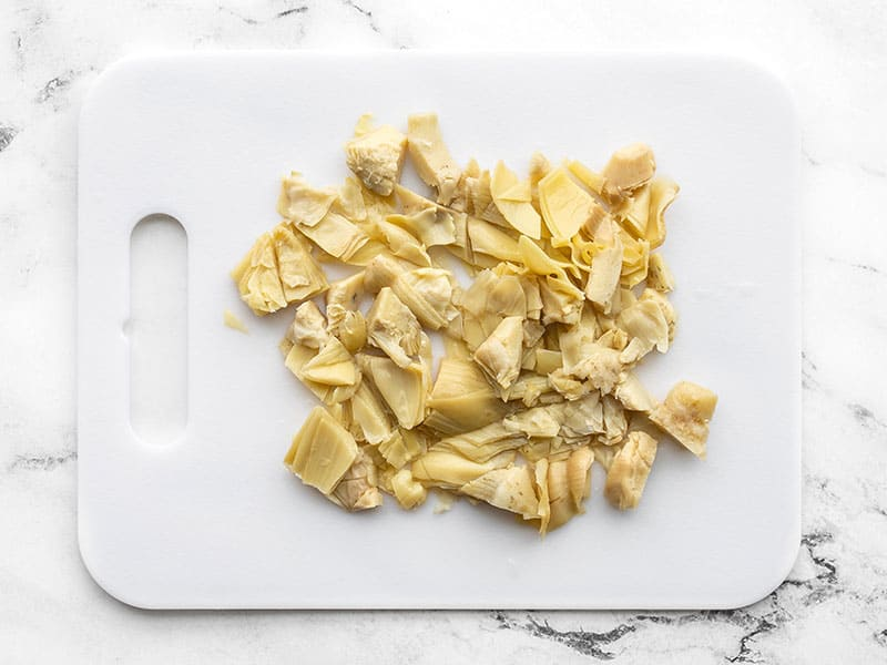 Chopped artichoke hearts