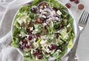 Grape Feta and Bacon Salad with Creamy Dijon Dressing