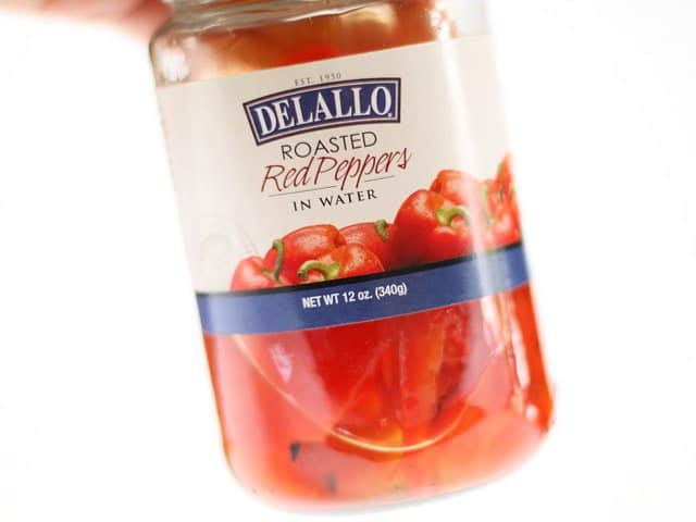 Jar of Roasted Red Peppers