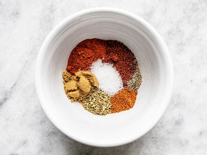 Homemade taco seasoning ingredients in a bowl