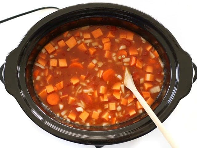 Vegetable Broth in Slow Cooker