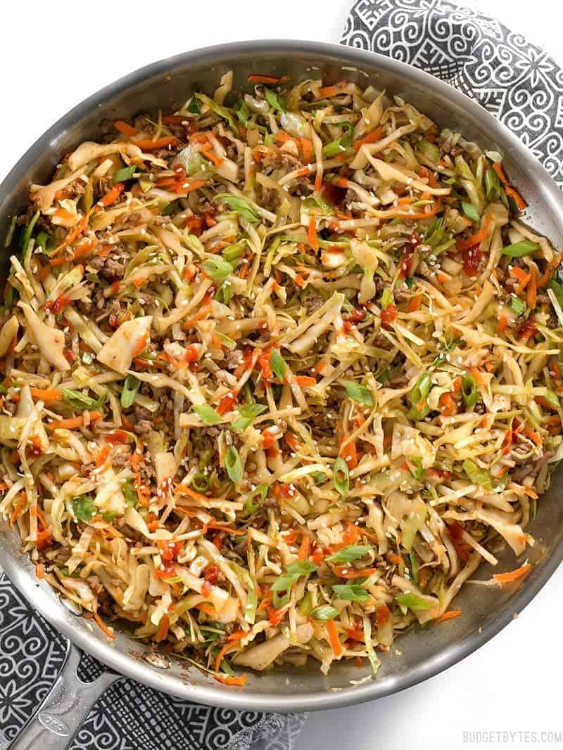 Beef and cabbage stir fry with video budget bytes this fast and easy beef and cabbage stir fry is a filling low carb dinner with forumfinder Images