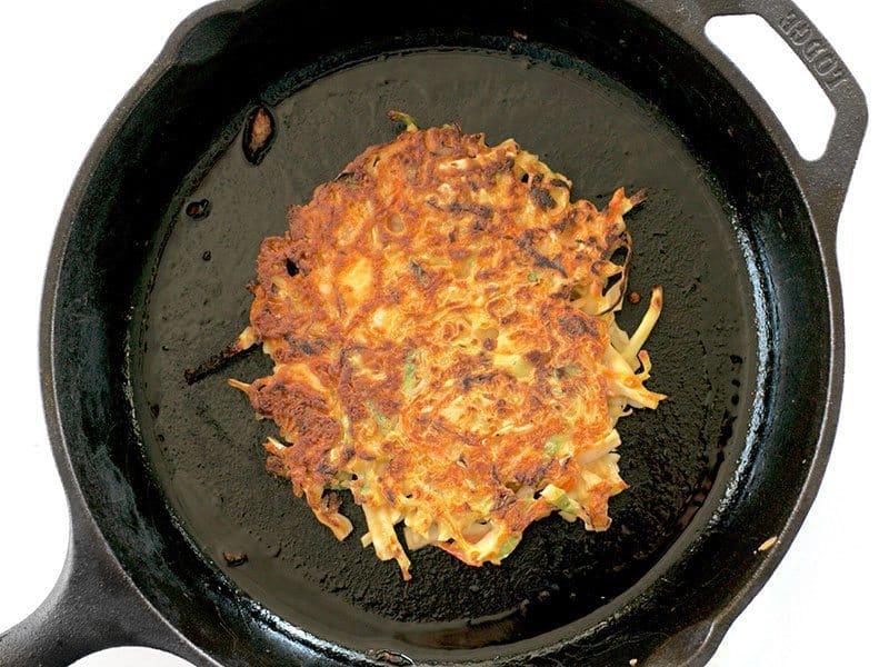 Fry Pancakes in skillet