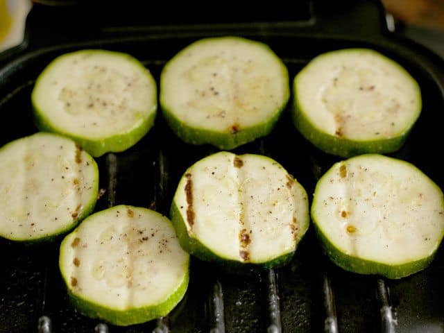 Grilled Zucchini on a George Foreman grill