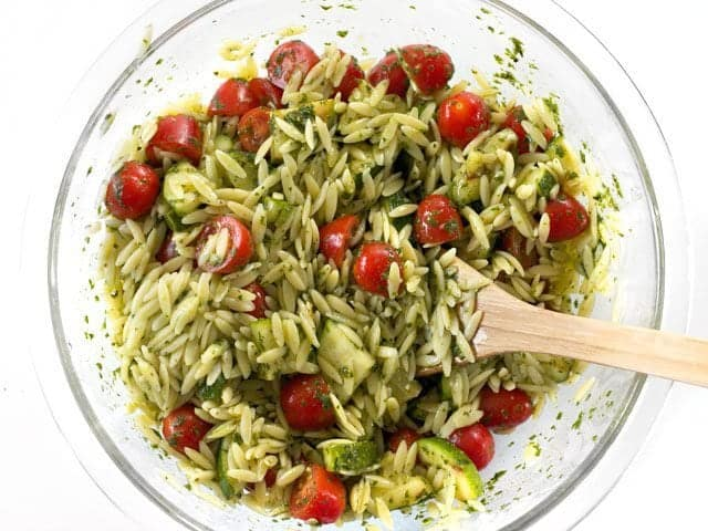 Mixed Zucchini and Orzo Salad