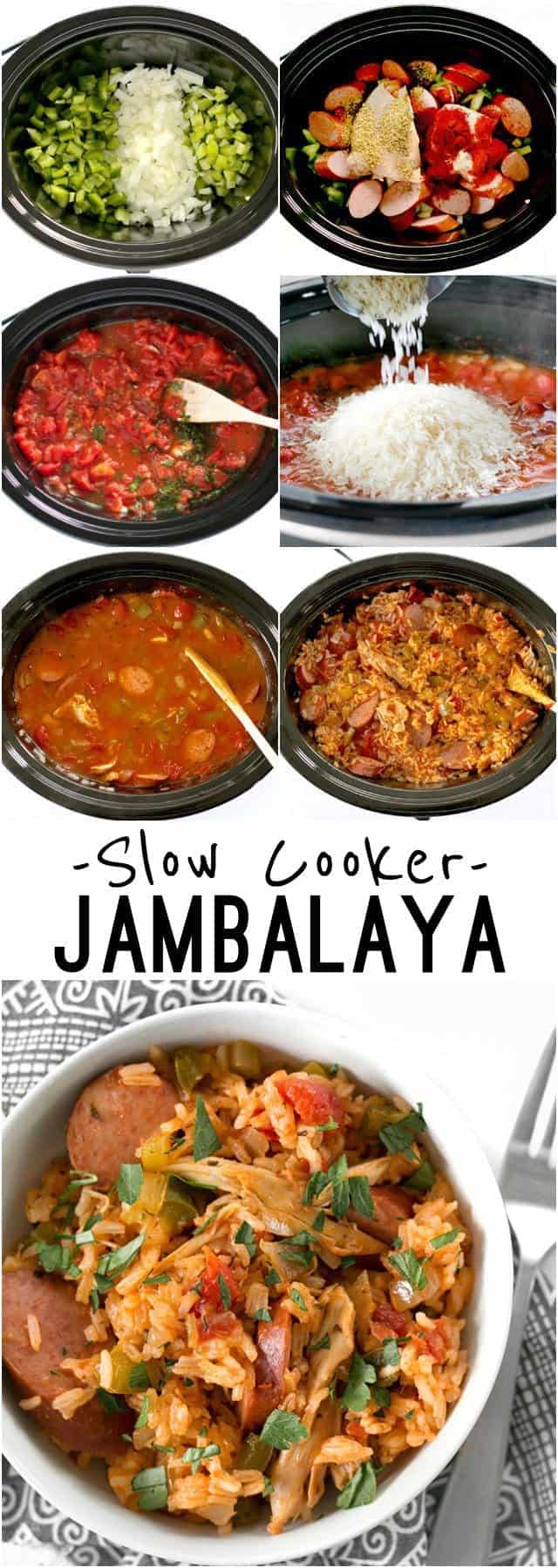 Slow Cooker Jambalaya has all the big flavor of the classic Louisiana dish with half the effort. BudgetBytes.com