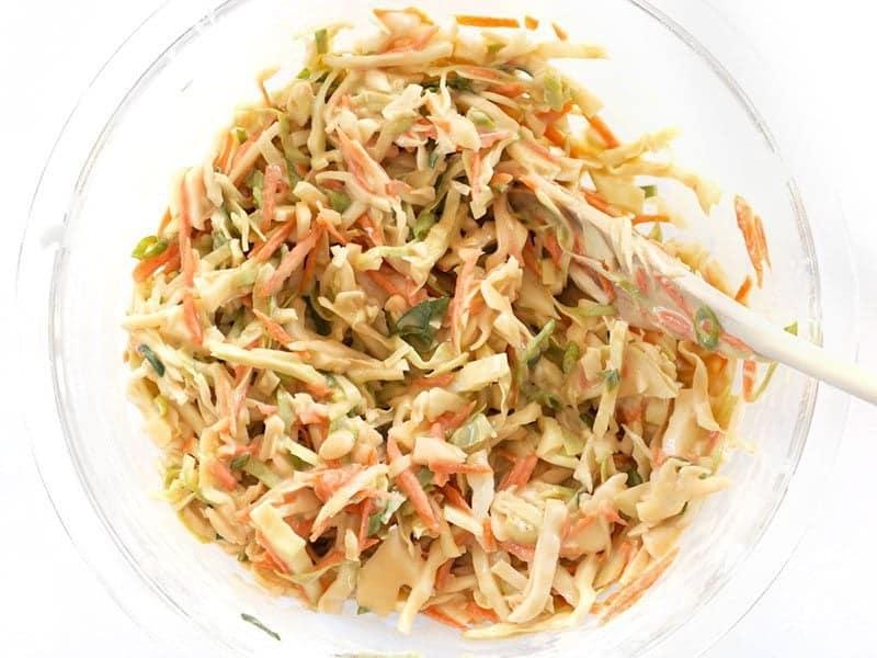 Stir Shredded Vegetables into batter