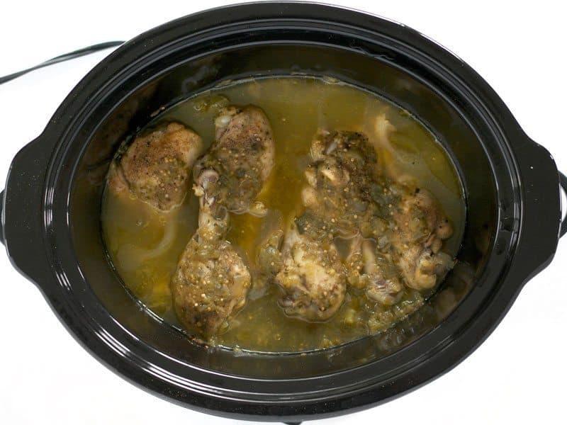 Cooked Salsa Verde Chicken