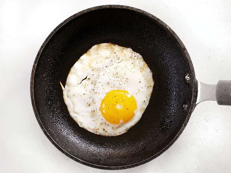 Fried Egg in a small skillet