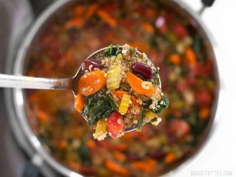 Garden Vegetable Quinoa Soup - Budget Bytes