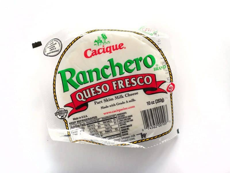 Queso Fresco package