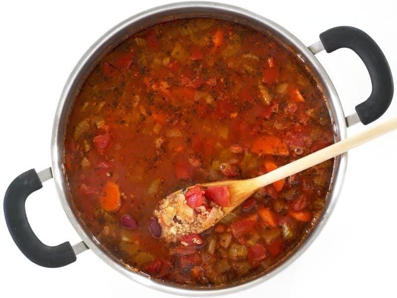 Simmered Garden Vegetable Quinoa Soup