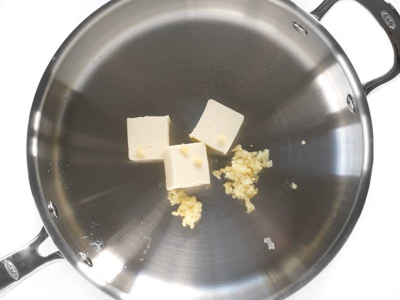 Butter and Garlic in Skillet